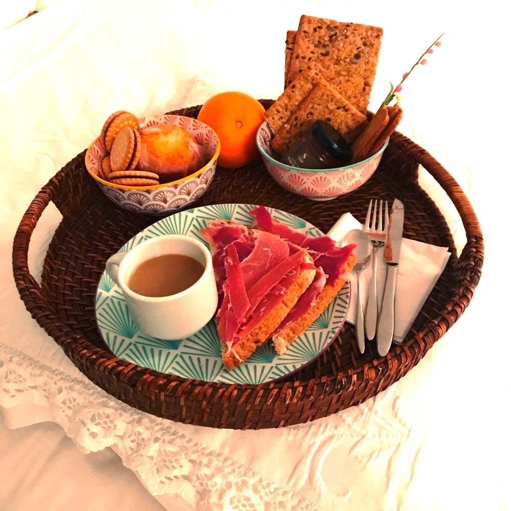 desayuno gratis en nuestro alojamiento en Xàtiva